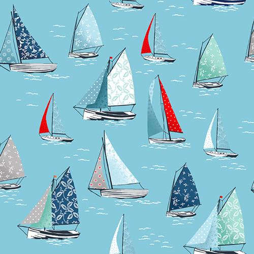 Sea Breeze - Yachts in Sky Blue