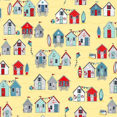 Sea Breeze -Beach Huts in Yellow