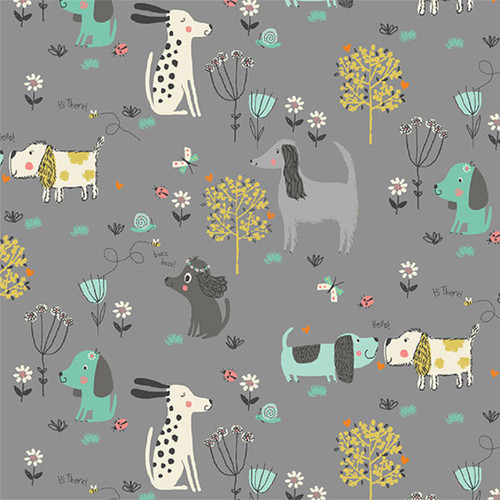 A walk in the park - Dogs in Grey