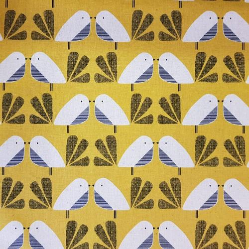 Dashwood Nest - Birds Linen in Mustard