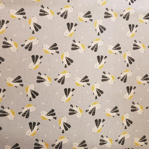Dashwood Nest - Birds Linen in Light Grey