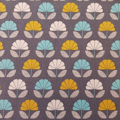 Dashwood Nest - Flowers Linen in Charcoal