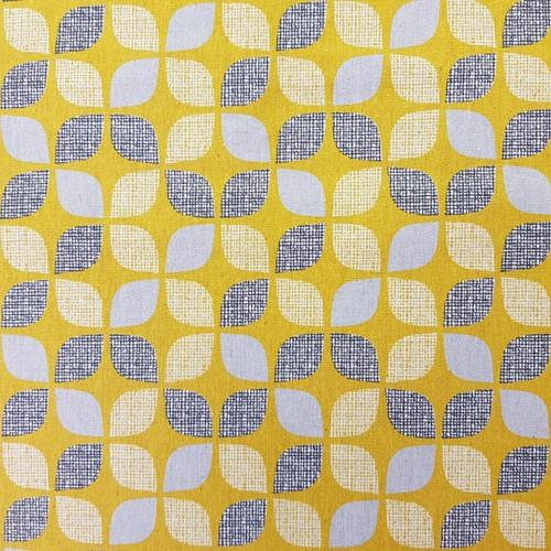 Dashwood Nest - Leaves Linen in Mustard