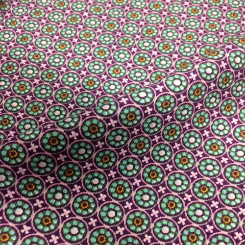 Tile Print Corduroy in Magenta