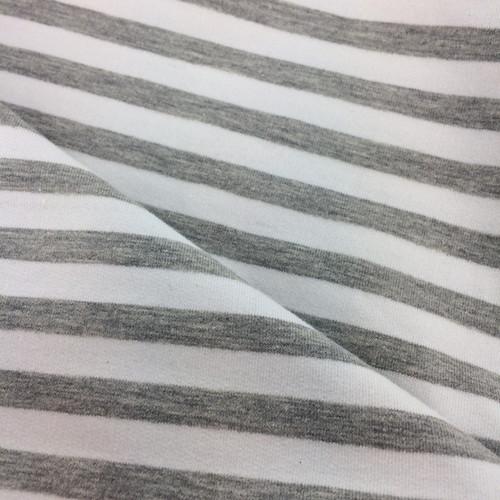 Yarn Dyed Stripe Jersey in Grey