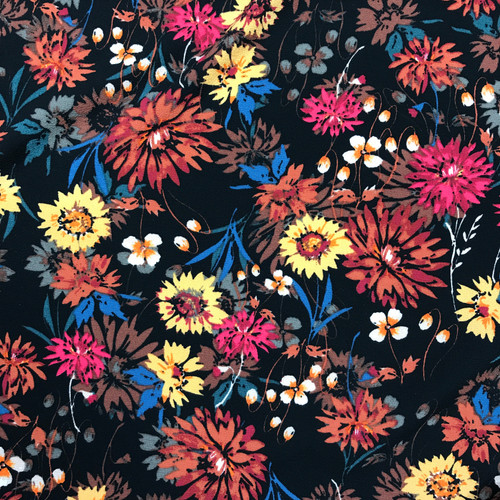 Summer Meadow Polyester in Multi