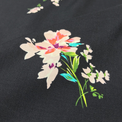 Botanical Branches Viscose in Black