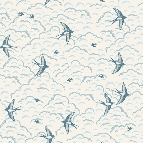 Makower grove swallow fabric