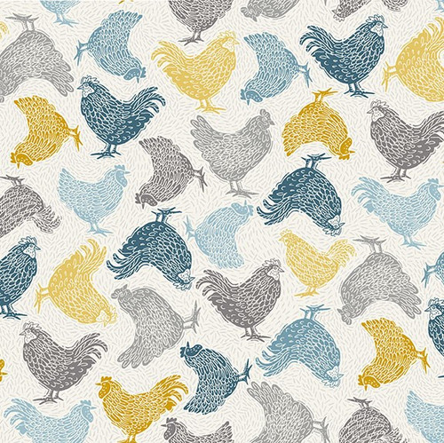 Makower uk Grove Chicken fabric