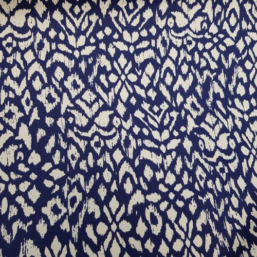 blue ikat cotton fabric
