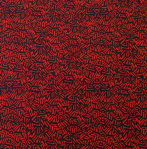 red stretch cotton fabric