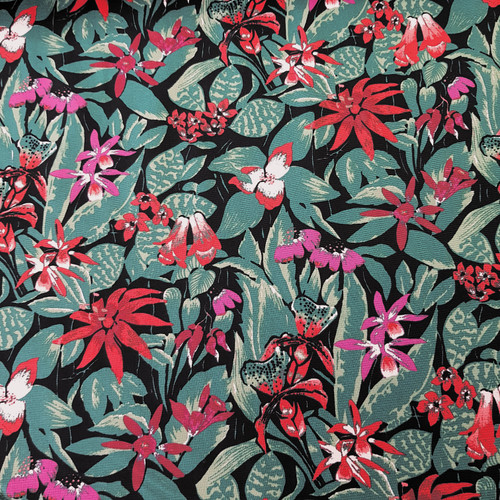 botanical floral cotton fabric