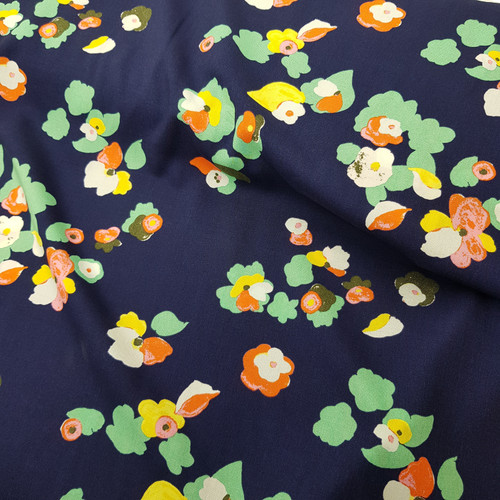 Floral viscose fabric