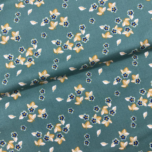 Berry Blossoms Cotton in Dark Sage