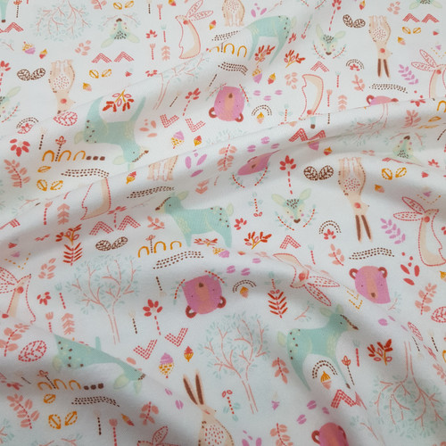 Forest Friends Viscose/Cotton Flannel in Multi