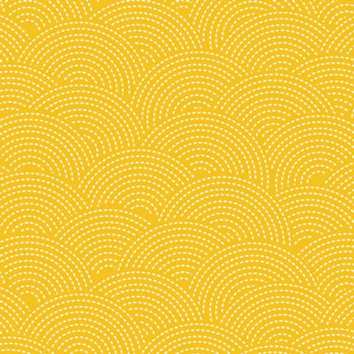 Mixology Sashiko Cotton Fabric in Gold