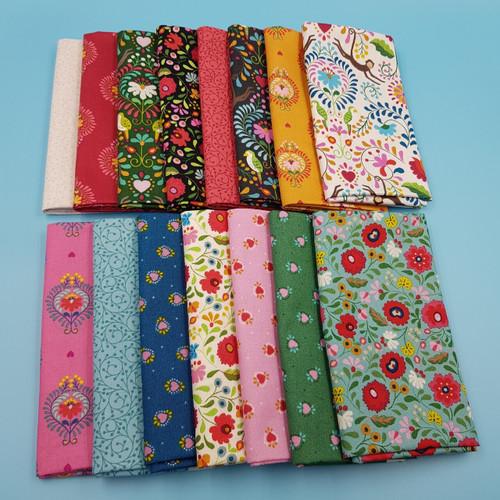 Lewis & Irene Maya fabric fat quarter bundle