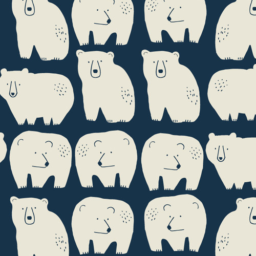 Laska by Dashwood Quilting Cotton - Bears in Blue