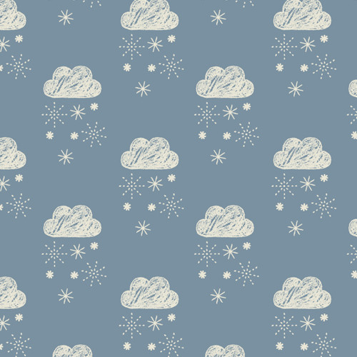 Laska by Dashwood Quilting Cotton - Rain Clouds in Blue