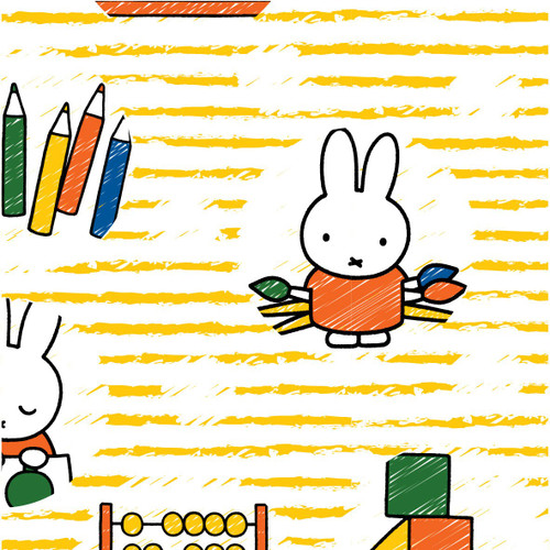 Miffy at School - Painting in Yellow