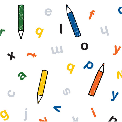 Miffy at School Craft Cotton - Letters in Multi