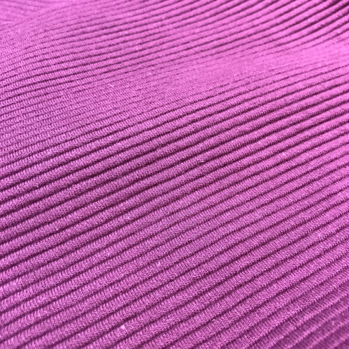 Ottoman Ribbed Knit Cotton in Aubergine
