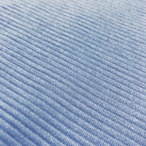 Ottoman Ribbed Knit Cotton in Chambray