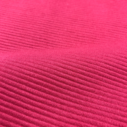 Ottoman Ribbed Knit Cotton in Rose