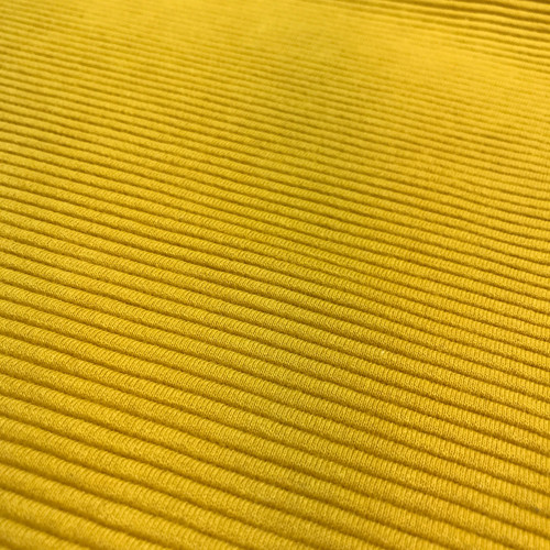 Ottoman Ribbed Knit Cotton in Mustard