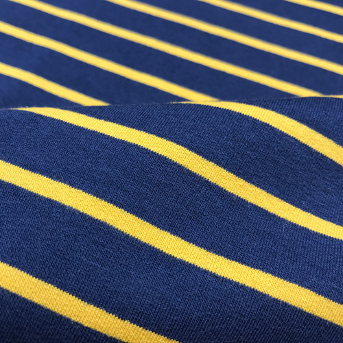 Yarn Dyed Stripe Sweatshirt in Mustard/Navy