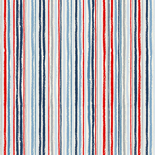Sail Away by Makower - Chalk Stripe Quilting Cotton
