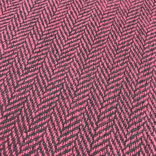 Herringbone Wool Mix in Burgundy