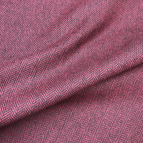 Herringbone Wool Mix in Burgundy