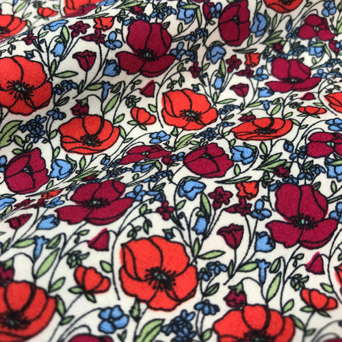 Poppy Field Cotton Poplin in Red