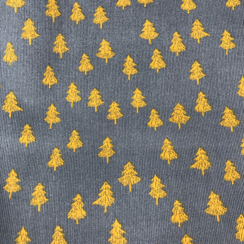 Fir Tree Corduroy in Navy