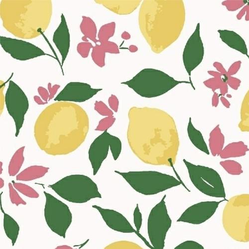 Pink Lemonade - Lemons in White
