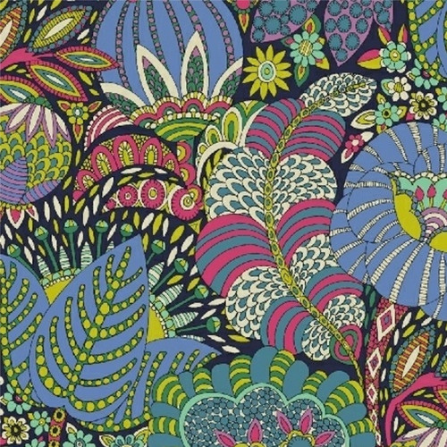Fantasy - Luscious Leaves in Navy - Windham Fabrics