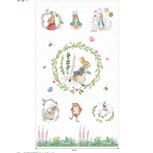 Peter Rabbit Quilting Cottons Story Panels