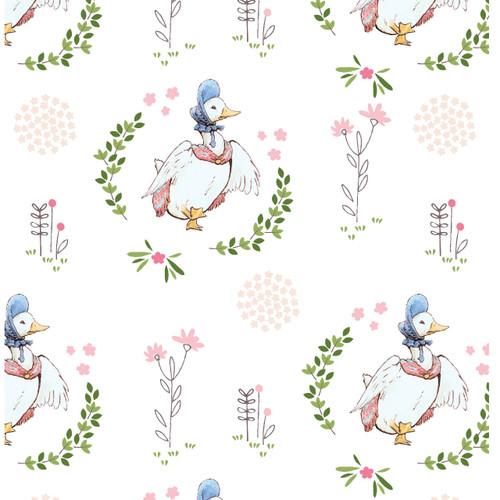 Peter Rabbit Quilting Cotton - Jemima Puddleduck