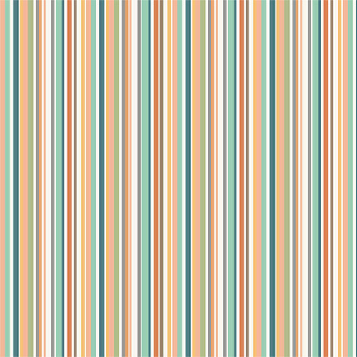 Jungle by Makower - Stripe in Pink Quilting Cotton