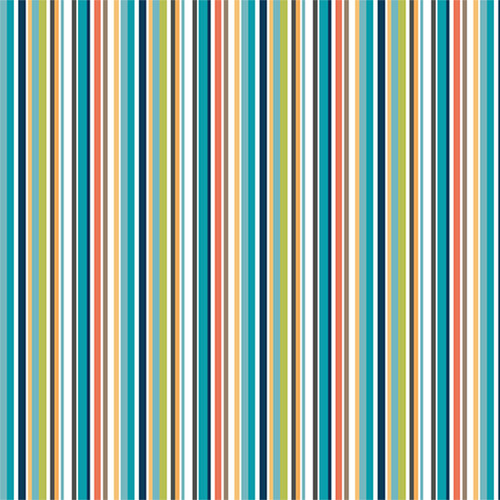 Jungle by Makower - Stripe in Blue Quilting Cotton