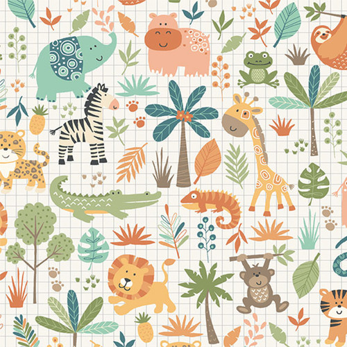 Jungle by Makower - Montage in Cream