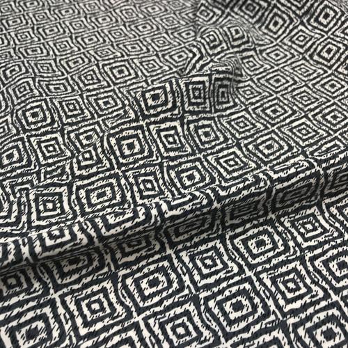 Dashing Diamonds Polyester in Grey