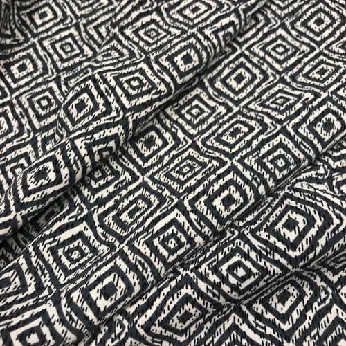 Dashing Diamonds Polyester in Grey