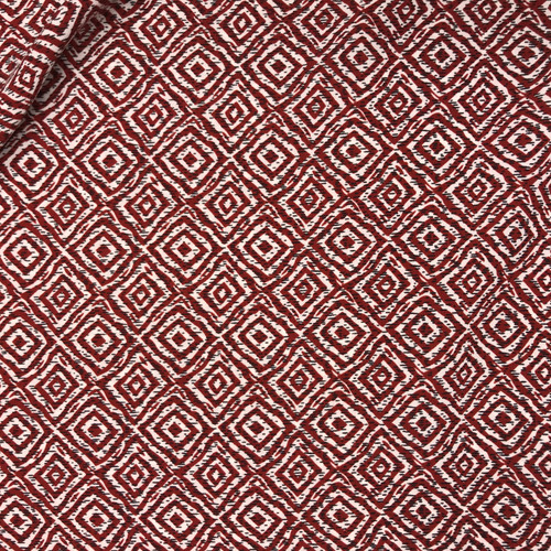 Dashing Diamonds Polyester in Rust Dressmaking Fabric