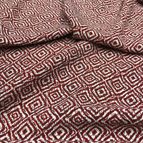 Dashing Diamonds Polyester in Rust Rust Dressmaking Fabric
