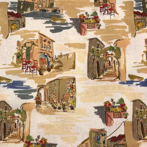 Lady McElroy Balcony View Linen Viscose