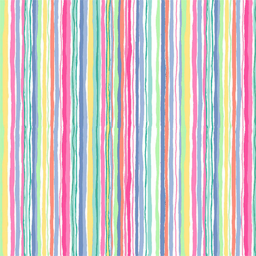 Spring by Makower - Wavy Stripe in Yellow Quilting Cotton
