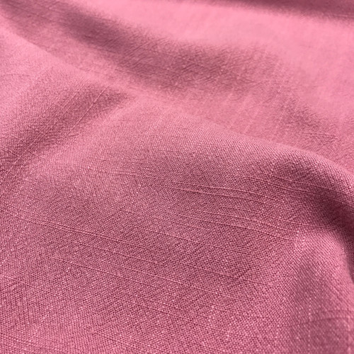 Linen Viscose in Vintage Pink Dressmaking Fabric