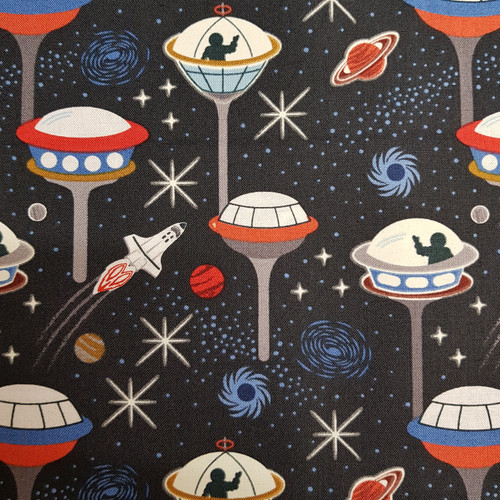 Lewis & irene light years space fabric Glow in the dark